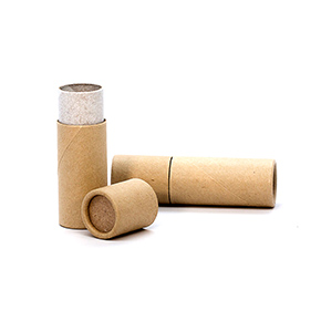 0.3 oz. Brown Paperboard Push-Up Tube with Cap