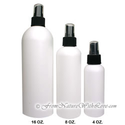 8 oz. HDPE Cosmo Round Bottle With Black Sprayer