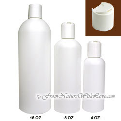 4 oz. HDPE Cosmo Round Bottle With Disc Cap