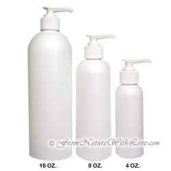 4 oz. HDPE Cosmo Round Bottle With White Pump