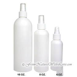 16 oz. HDPE Cosmo Round Bottle With White Sprayer