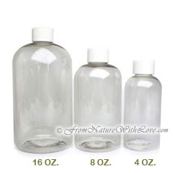 8 oz. PET Boston Round Bottle With Regular Cap
