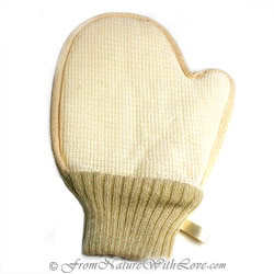 Ramie Terry Glove With Cuff