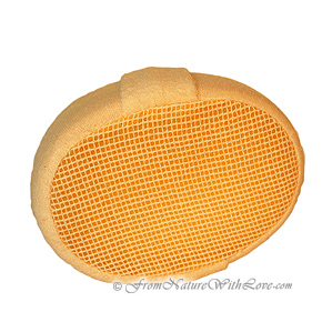 Oval Ramie Terry Sponge With Strap