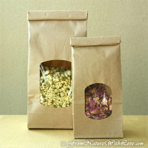 1 lb. Kraft Tin Tie Bags With Window