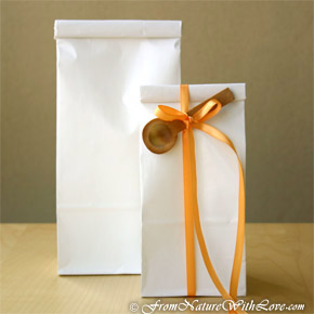 1/2 lb. White Windowless Tin Tie Bags