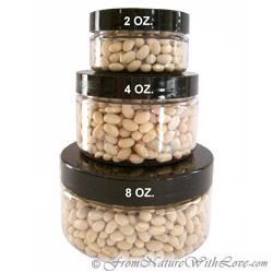 4 oz. Clear Flat PET Jars with Black Caps
