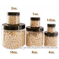 1 oz. Clear PET Jars With Black Caps