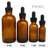 1 oz. Amber Boston Round Bottles with Droppers