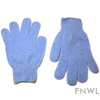 Blue Nylon Bath Gloves (pair)