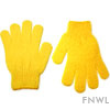Yellow Nylon Bath Gloves (pair)
