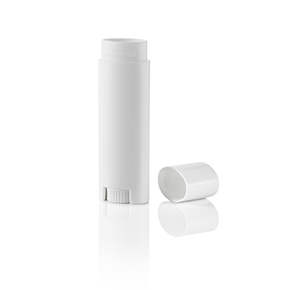 0.15 oz. White Oval Lip Balm Tube with Cap