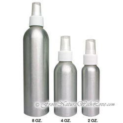 2 oz. Brushed Aluminum Bottle With White Sprayer
