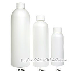 8 oz. HDPE Cosmo Round Bottle With Regular Cap