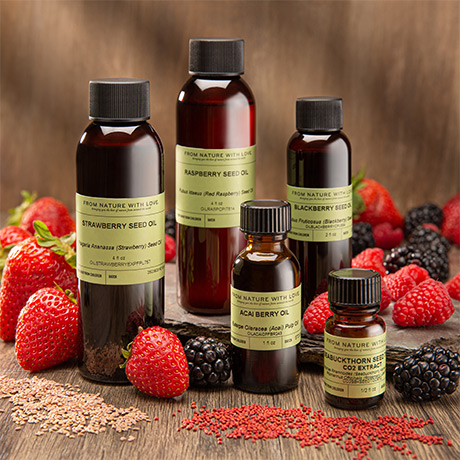 Image Depicting a Selection of our Premium Quality Berry Seed Oils
