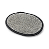 Gray and Black Bamboo Shower Pad