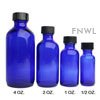 1 oz. Cobalt Boston Round Bottle with Cap