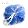 Blue Nylon Shadow Poufs
