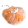 Peach Nylon Shadow Poufs