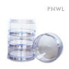 35 ml Double Threaded Stackable Sifter Jars